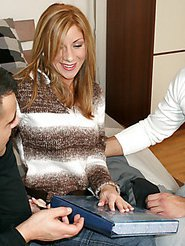 This euro mamma gets double teamed up real nicely in these amazign pics