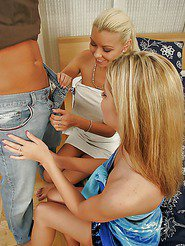 Two hot young euro sex babes get together for a hot licking