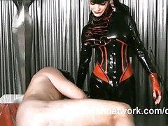 Brutal femdom anal attack