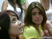 New pledge dick fucking sorority sister after giving him a blowjob