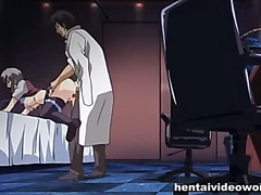 Special treatment for busty anime girl