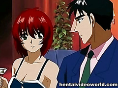 Passionate hentai sex after showering