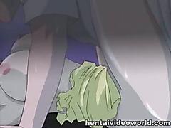 Hentai gal rewarding her saver with sex