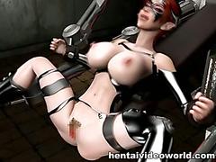 Huge cock fucks anime bdsm girl