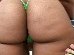 Lareina flaunts her 42 inch booty.