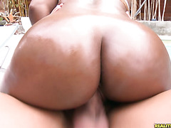 Erikaliu rides that dick and gets her pussy pounded from behind as her huge ass bounces.