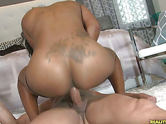 Natalie rides that cock as her big juicy ass bounces around.