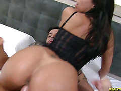 Alana rides Cowgirl and Reverse Cowgirl.