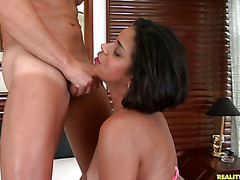 Analuz gets her exceptional tits fucked.