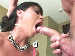 Asian cock sucker gagging