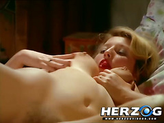 Busty Blonde plays with her pussy and cums