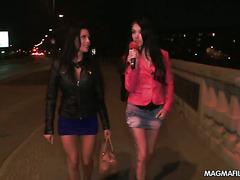 Two German sluts sucking of strangers cock