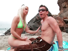 American babe gets fucked by a German cock