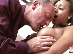Babysitter with big tits gets fucked hard