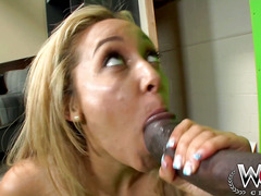 Stunning Tinslee Reagan takes it deep black up her ass and cant get enough in her filthy mouth!