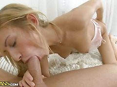 Sweet ass babe enjoys hot anal sex round with a big dick