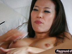 Asian maid Kalina shared cock with Dani