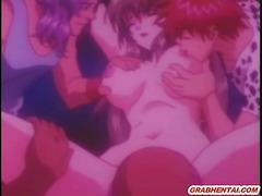Busty hentai mom hard gangbang by bandits