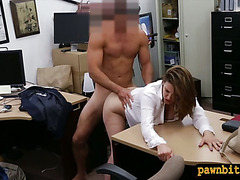Foxy busty woman fucked for plane ticket