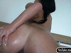 Gorgeous gf Nata Lee tries out anal sex
