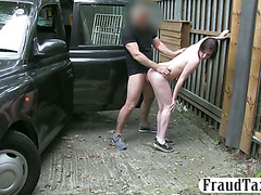 Sexy hot chick nailed by pervert driver
