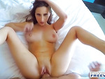 Ashley unwraps her sexy body for sex filmed in POV with 3D sound