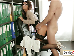 Secretary Alexis works up a sweat