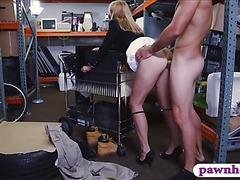 Horny milf fucked by horny pawnkeeper