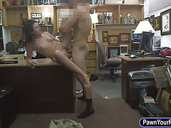 Tight housewife fucked in the backroom