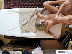 Gorgeous chick first ever massage fuck