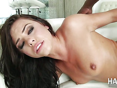 Adrianas tight butt hole gets destroyed by a big black cock