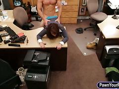 Huge boobs milf fucked at the panwshop