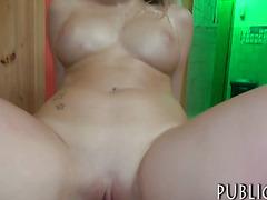 Big tits Euro banged on massage table