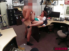 Big tittied milf gives a head and gets fucked in exchange of money