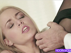 Horny blonde babe Christen Courtney gets fuck hard by her boss Pablo