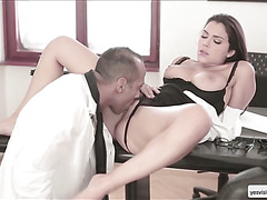 A hot fuck on one rainy afternoon in the office with hottie valentina