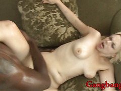 Blondie slut double fucked and creampied