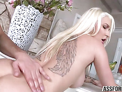 Sexy faultless young lady Stevie sucks a major prick and gets rammed