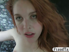 Redhead passenger twat drilled for free