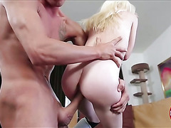 Naughty sweetie Piper gets her wet pussy penetrated with huge cock