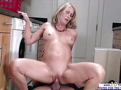 Hot milf gets fucked by a bigcock on April fools day in a pov style