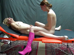 OldNanny Old and young woman is masturbating with adult toy
