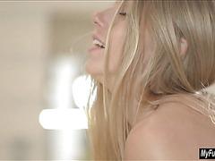 Blonde Euro babe Angelica orgasms