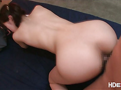 Sexy petite Japanese gets to be fucked hard until she squirts