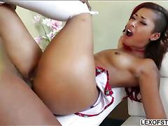 Buxom blonde honey Brooke Wylde facialed by huge black dick