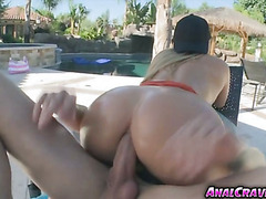 Hottie babe AJ Applegate wanted to fuck her asshole