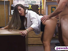 Big booty babe pawns pussy and pounded