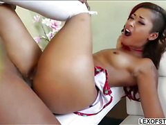 Gorgeous Bibi Noel enjoys an interracial butt fuck treat