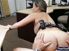 Latina police officer fucked by pawn man