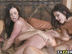 Kendra fingers Adrianas wet tight pussy